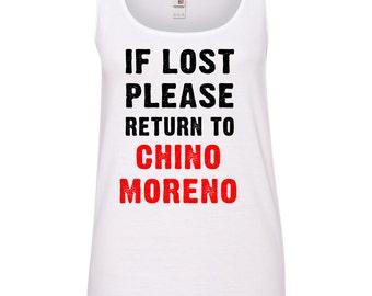 If Lost Please Return to Chino Moreno (Deftones) Ladies TANK TOP