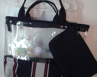 Hand Bags canvas/plastic more 1 small bag