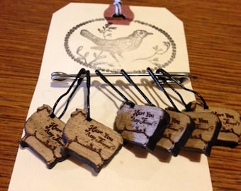 Wood Stitch Markers Vintage Style