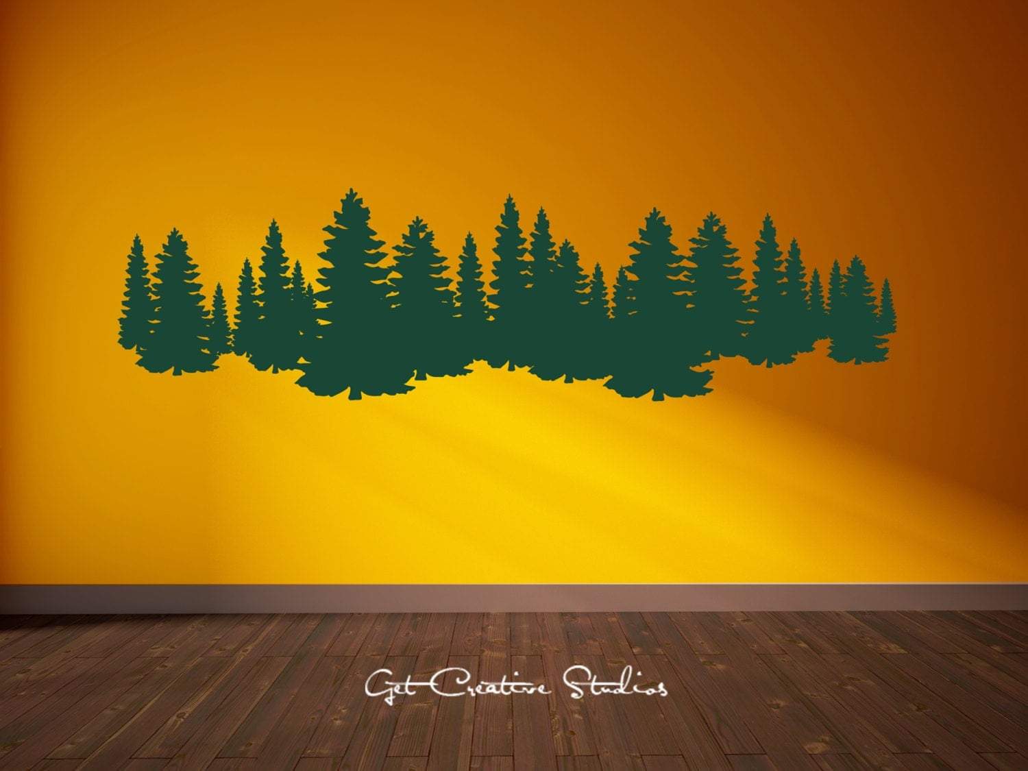 forest decal pine tree forest wall decal pine trees decal. Black Bedroom Furniture Sets. Home Design Ideas