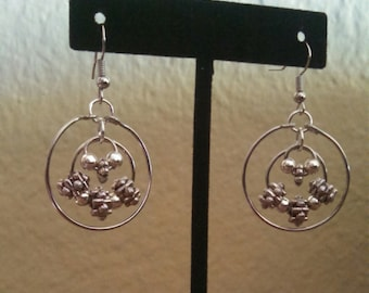 Dangle hoop earrings