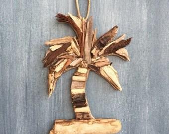 Driftwood Palm Tree / Small Coastal  Decor / Ornament