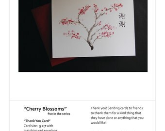 Chinese Thank You Cards