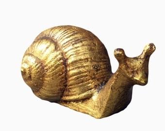 Gilt Snail Figurine