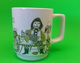 Rare Vintage Figgjo Flint Market Mug