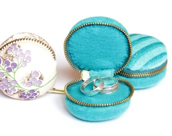 Macaroon coin purse, jewelry pouch, ring box