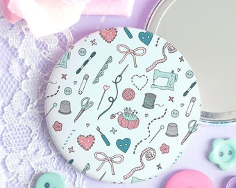 Sewing Pattern Pocket Mirror - Those Who Sew Collection - Sewing Gift