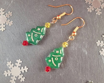 Christmas Tree earrings - Christmas jewellery - Christmas earrings - Christmas party - Christmas gift - secret santa - Christmas jumper