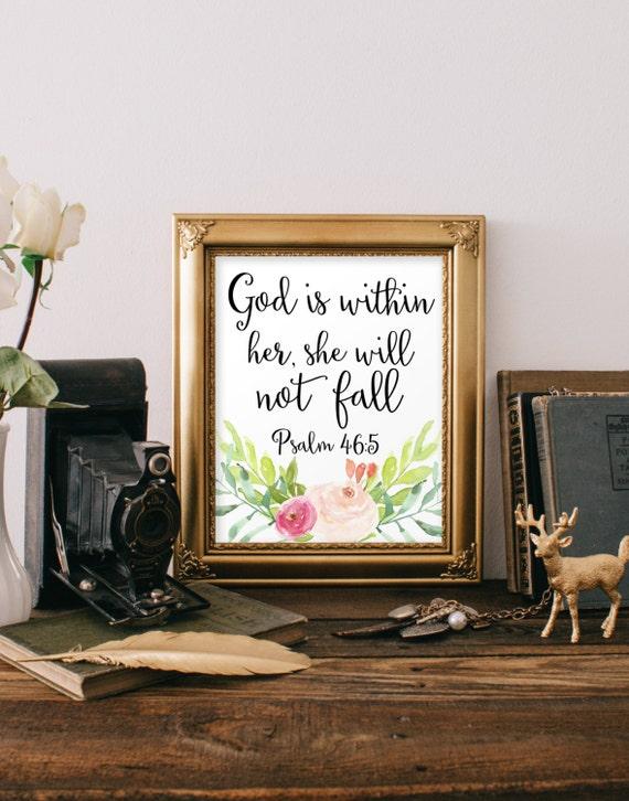 Religious Wall Decor For Nursery : Nursery bible verse print decor scripture christian