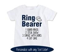 Ring Bearer Gift Wedding Ring bearer Shirt RingBearer outfit Wedding Rehearsal shirt wedding rehearsal outfit ringbearer onesie... (EX 420)