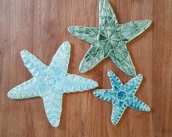 Familia Ferrer Amat: special Listing - set star fish and big fish pendant