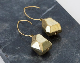 Chunky Gold Bead Statement Earrings