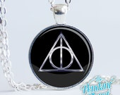 Deathly Hallow Silver Necklace Harry Potter Jewelry Harry Potter pendant Deathly Hallows, gift for reader, gift for potterhead
