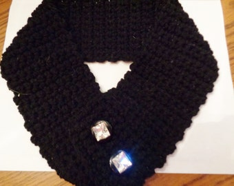crochet collar scarf