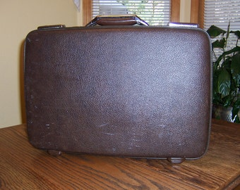 American Tourister Case, Vintage Briefcase, Hard Small Suitcase