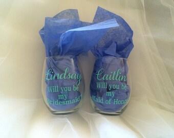 Bridal Party Glassware
