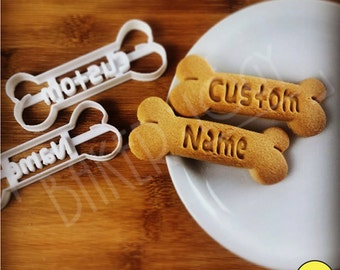 Customized Cookie Cutter - Personalize Dog Treats with Pets names | bone shaped | Personalised gifts for Pet Lovers ooak | Bakerlogy