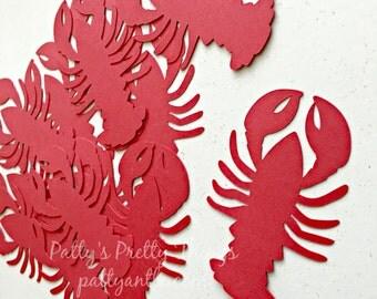 Lobster Die Cuts, Lobster Confetti, Beach Confetti, Beach Die Cut, 18 Ct.