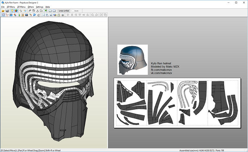 Batman Foam Armor Templates Pepakura