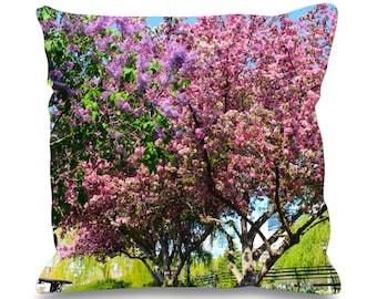 Pink Cherry Blossom Tree 45cm x 45cm Sofa Cushion