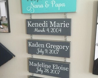 Our Favourite People/Greatest Blessings Grandkids Hanging Sign