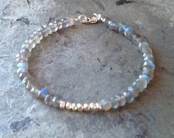 Labradorite with Karen Hill Tribe Silver Bracelet