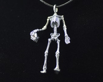 Headless Skeleton Sterling Silver Pendant