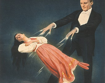 "Keller ""Levitation"" Reproduction Digital Print Vintage Advert Advertising Magic Magic Tricks"