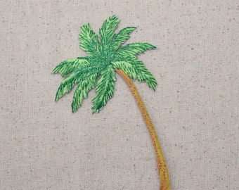 Large - Tropical Palm Tree - Beach - Iron on Applique - Embroidered Patch - 692719-A