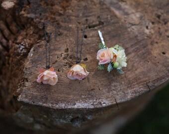 Custom made set hair clips hair flowers hair pin flower hair clip