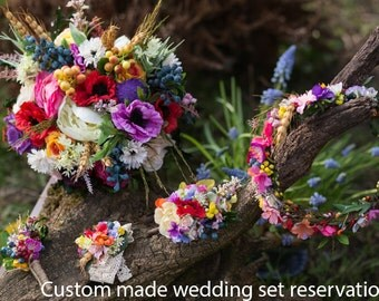 Custom made wedding set reservation
