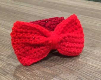Crochet Bow Coffee Cup Cozy - Proceeds go to Charity