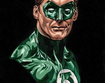 Green Lantern - Fine Art Print -12x18