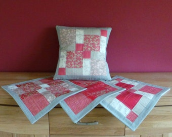 Set of 4 Handmade Quilted Cushion Covers