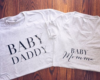 Baby momma/daddy t-shirt set!