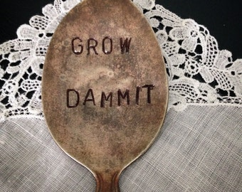 Grow Dammit, Garden Marker
