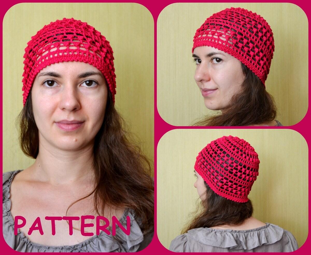 Summer Beanie Hat Crochet Pattern : Bobble Crochet Hat Pattern Summer Beanies Graph by ItWasYarn