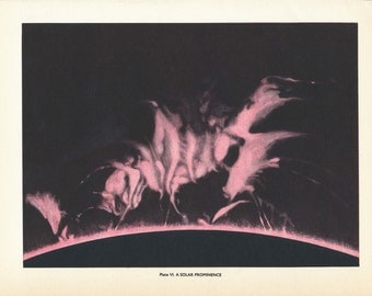 1959 Solar Flare Vintage Astronomy Print