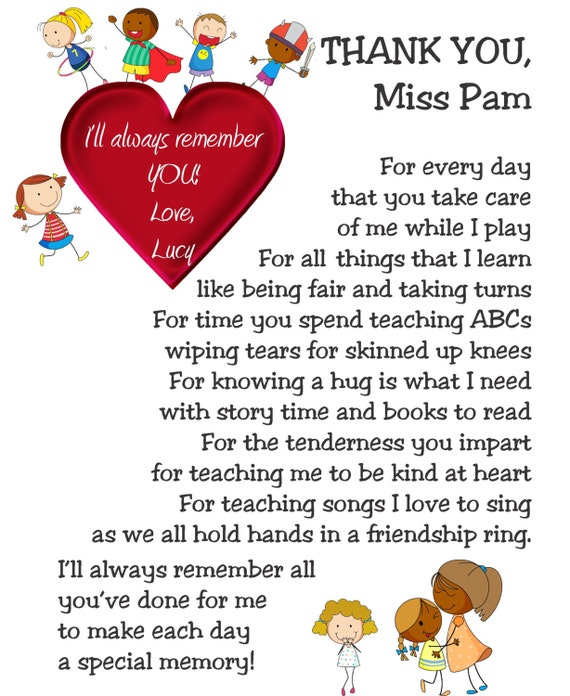 Thank You Poems For Preschool Teachers | www.pixshark.com