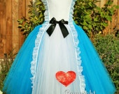 ADULT Alice in Wonderland Inspired Handmade Tutu Dress  Birthday Party Photo Prop Pageant Cosplay