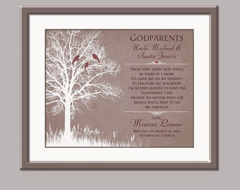 Personalized Godparent Print