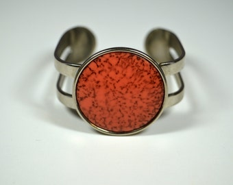 Vintage Celebrity NY Agate Bracelet Orange Agate Celebrity NY Bracelet Celebrity NY Jewelry Cuff Bracelet