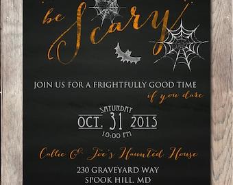 Halloween Party Invitation, Happy Halloween Invitation, Chalkboard Halloween Invitation, Halloween Invitation, Printable Halloween Invite