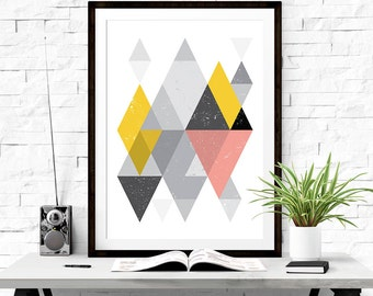 Geometric Print, Printable Abstract Art, Abstract Poster, Scandinavian Poster, Printable Downloads, Printable Wall Art, Geometric Art
