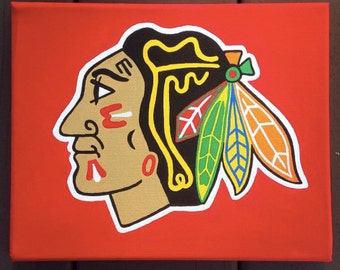 Chicago Blackhawks Canvas Painting