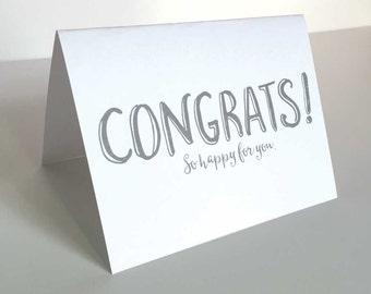 Printable Congratulations Card - Instant Download - Congratulations Card - Digital