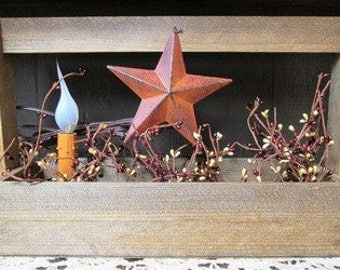 Primitive Lighted Barn Star Carryall