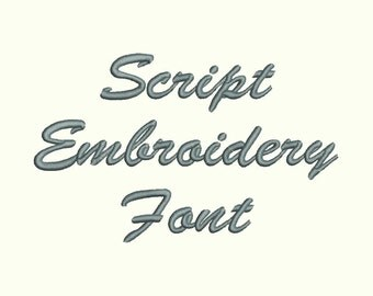 Brush Script Embroidery Font Machine Embroidery Monogram Font Designs 3 Size BX Embroidery Fonts - INSTANT DOWNLOAD