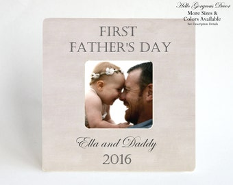 fathers day gift from son daughter first fathers day picture frame to dad personalized from baby new daddy custom photo present ideas