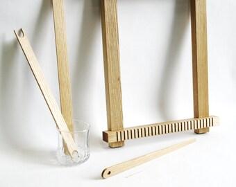15% OFF Weaving loom kit, weaving tools, beginner weaving loom kit for hand weaving, natural finish frame loom